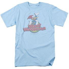 Woody Woodpecker Retro Fade Short Sleeve Adult Light T-Shirt