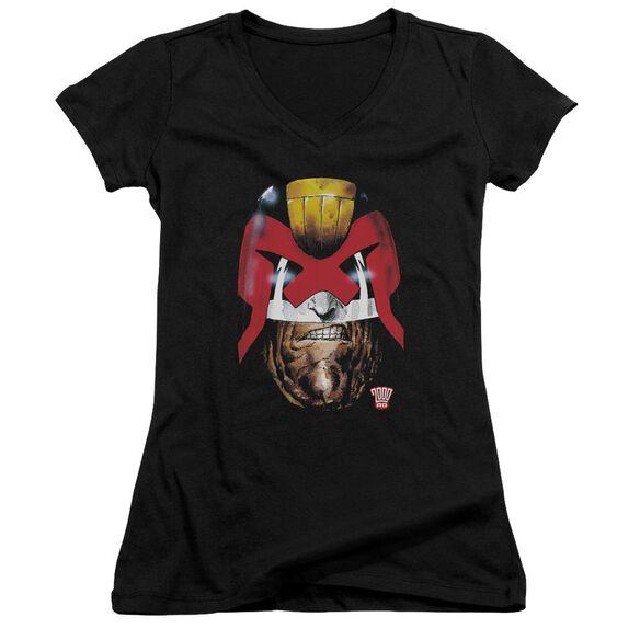 Judge Dredd Dredd's Head Junior V Neck T-Shirt