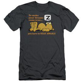 Garfield Stay Awake Short Sleeve Adult T-Shirt
