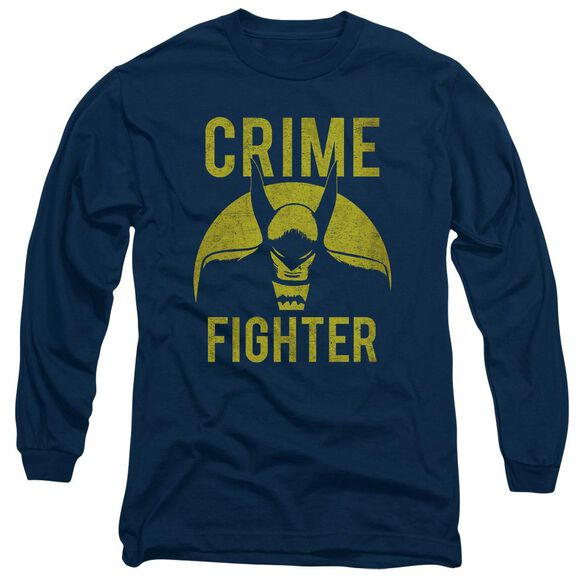 Dc Fight Crime Long Sleeve Adult T-Shirt