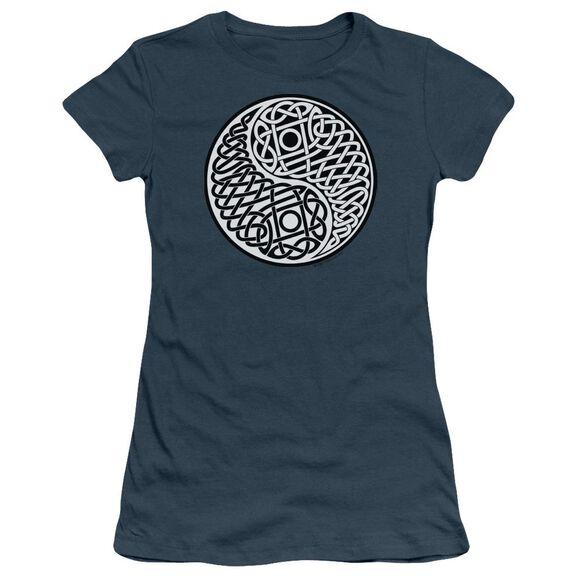 CELTIC YING YANG - JUNIOR SHEER - INDIGO T-Shirt