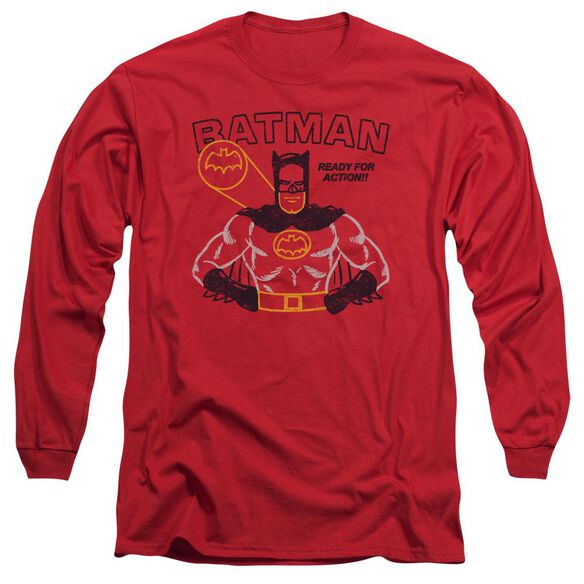 Batman Ready For Action Long Sleeve Adult T-Shirt