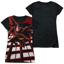 Beware The Batman City Protector Short Sleeve Junior Poly Black Back T-Shirt