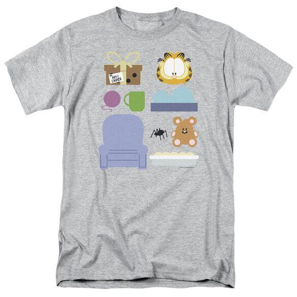Garfield Gift Set Short Sleeve Adult Athletic Heather T-Shirt