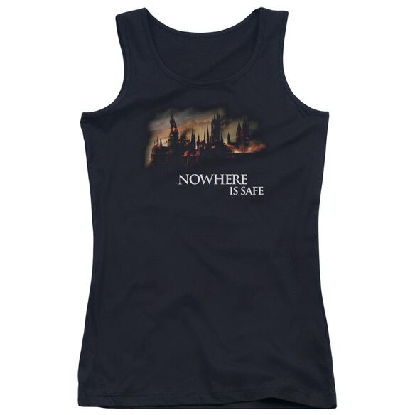 Harry Potter Burning Hogwarts Juniors Tank Top
