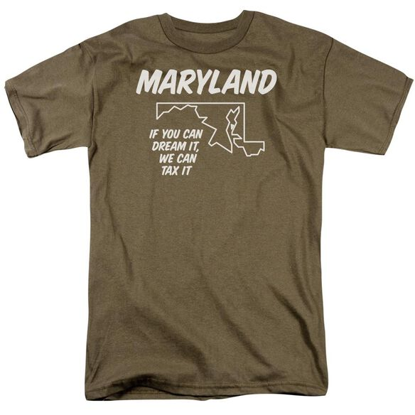 Maryland Short Sleeve Adult Safari Green T-Shirt