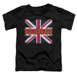 Def Leppard Union Jack Short Sleeve Toddler Tee Black T-Shirt
