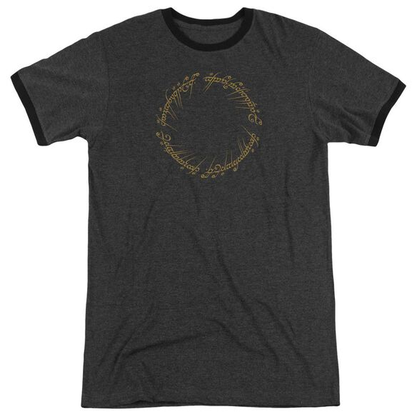 Lord Of The Rings One Ring Adult Ringer Charcoal
