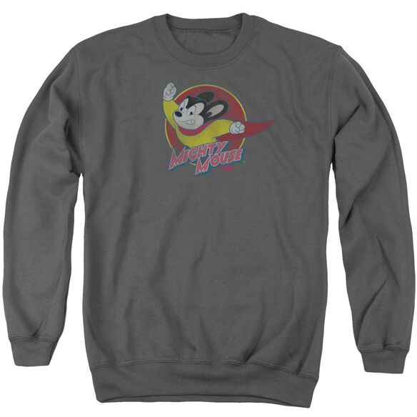 Mighty Mouse Mighty Circle Adult Crewneck Sweatshirt