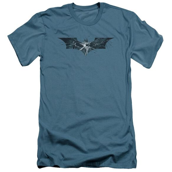 Dark Knight Rises Cracked Glass Logo Short Sleeve Adult T-Shirt