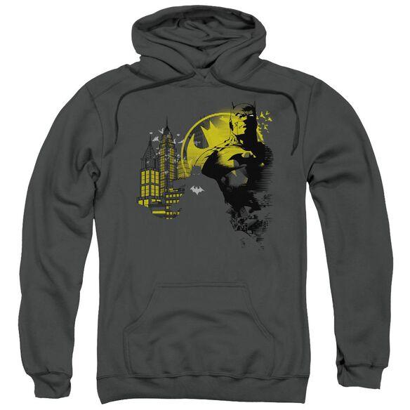 Batman The Dark City Adult Pull Over Hoodie