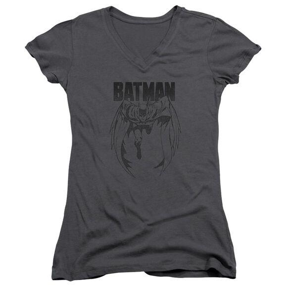 Batman Grey Noise Junior V Neck T-Shirt