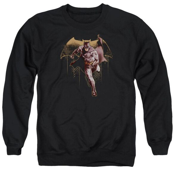 Justice League Movie Caped Crusader Adult Crewneck Sweatshirt