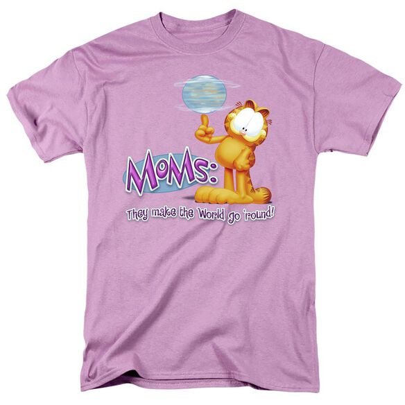 GARFIELD MAKE WORLD GO AROUND - S/S ADULT 18/1 - LAVENDAR T-Shirt