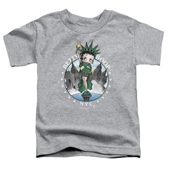 Betty Boop Nyc Short Sleeve Toddler Tee Athletic Heather T-Shirt