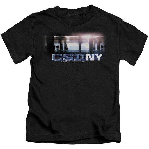 Csi New York Subway Short Sleeve Juvenile Black T-Shirt