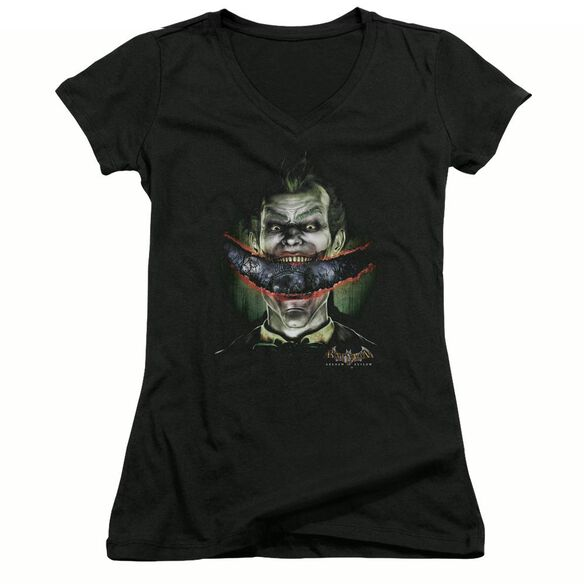 Batman Aa Crazy Lips - Junior V-neck - Black