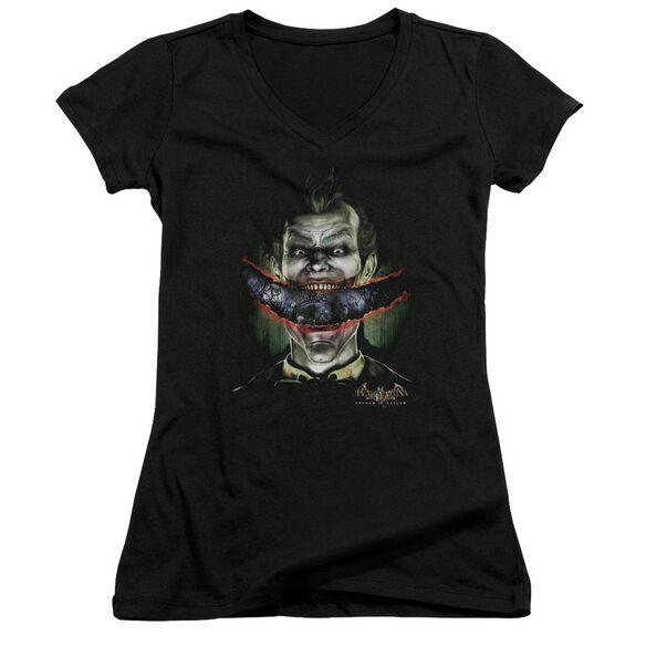 Batman Aa Crazy Lips - Junior V-neck - Black