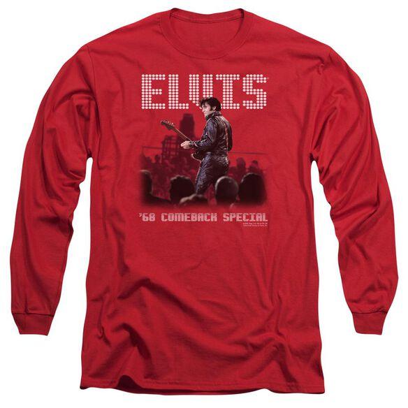 Elvis Presley Return Of The King Long Sleeve Adult T-Shirt