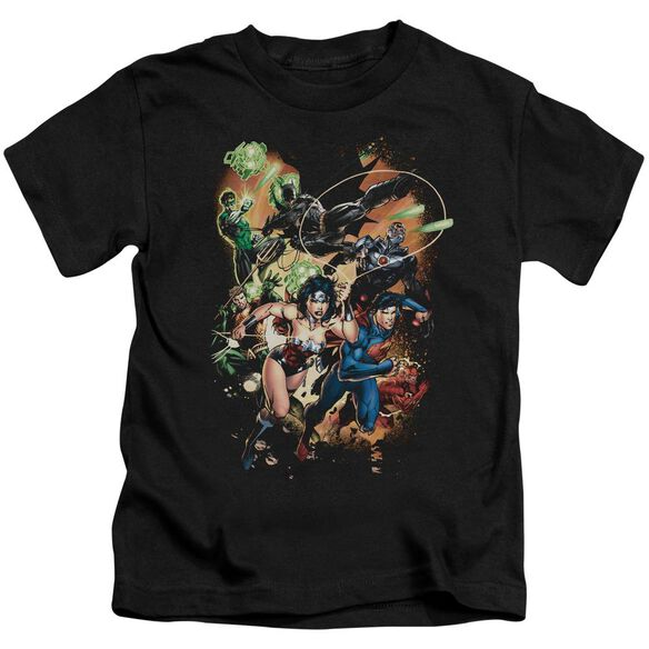 Jla Battle Ready Short Sleeve Juvenile T-Shirt