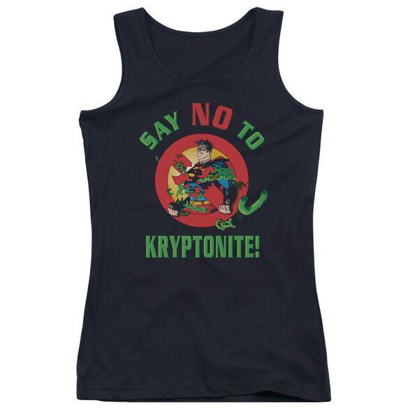 Superman Say No To Kryptonite Juniors Tank Top