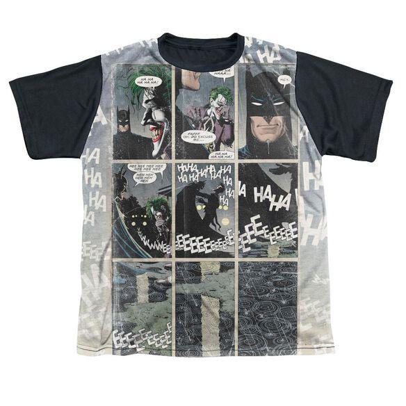 Batman Last Laugh Short Sleeve Youth Front Black Back T-Shirt