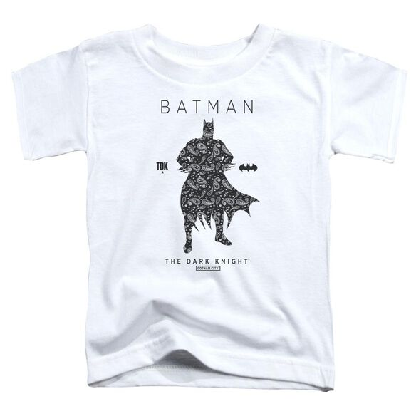 Batman Paislety Silhouette Short Sleeve Toddler Tee White T-Shirt