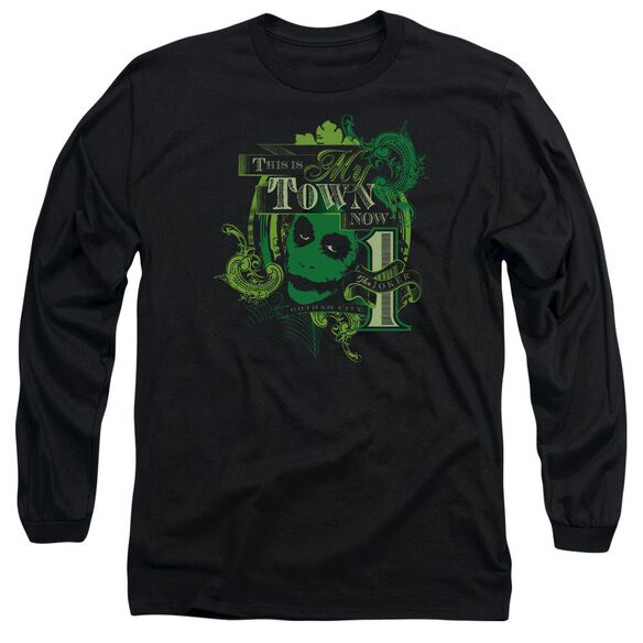 Dark Knight My Town Now Long Sleeve Adult T-Shirt
