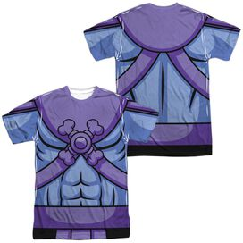 Masters Of The Universe Skeletor Costume (Front Back Print) Short Sleeve Adult Poly Crew T-Shirt