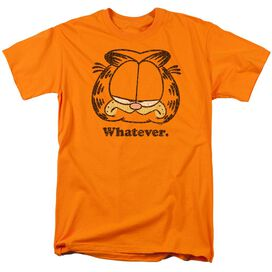 Garfield Whatever Short Sleeve Adult Orange T-Shirt