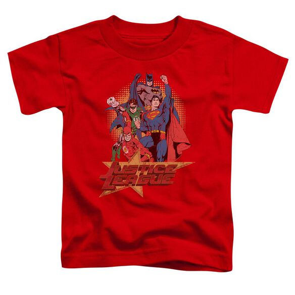 Jla Raise Your Fist Short Sleeve Toddler Tee Red Lg T-Shirt