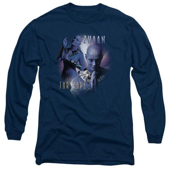FARSCAPE ZHAAN - L/S ADULT 18/1 - NAVY T-Shirt