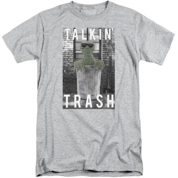Sesame Street Talkin Trash Short Sleeve Adult Tall Athletic T-Shirt
