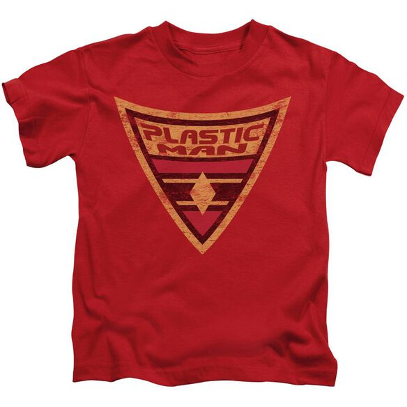 Batman Bb Plastic Man Shield Short Sleeve Juvenile Red T-Shirt