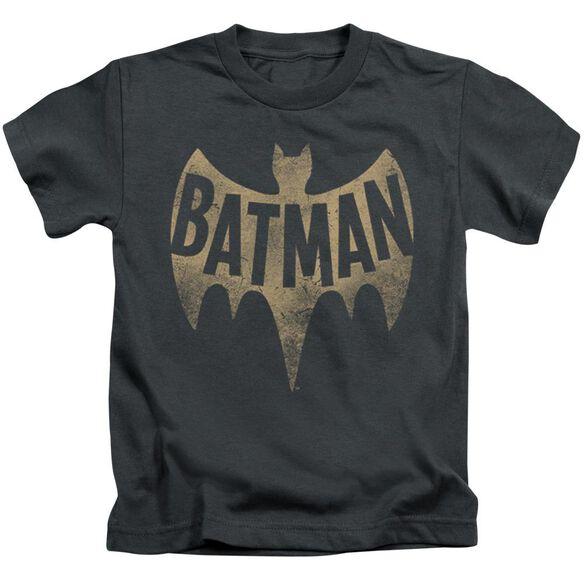 Batman Classic Tv Vintage Logo Short Sleeve Juvenile T-Shirt