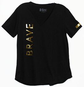 Brave Black Juniors T-Shirt