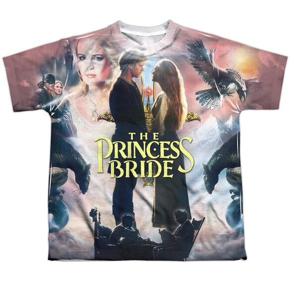 Princess Bride Soft Collage Short Sleeve Youth Poly Crew T-Shirt