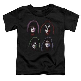 Kiss Solo Heads Short Sleeve Toddler Tee Black T-Shirt