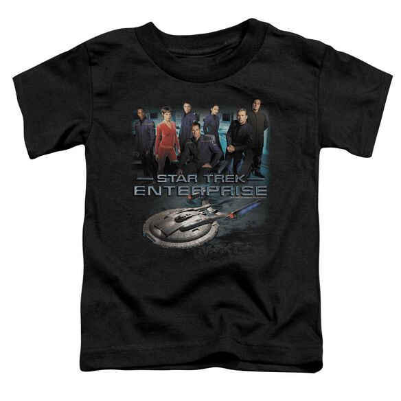 Star Trek Enterprise Crew Short Sleeve Toddler Tee Black Lg T-Shirt