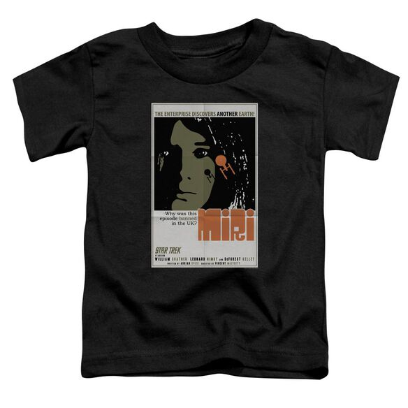 Star Trek Tos Episode 8 Short Sleeve Toddler Tee Black Sm T-Shirt