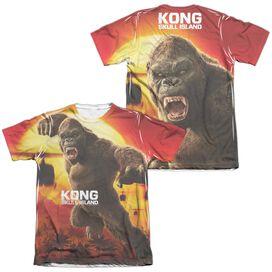 Kong Skull Island Kong Attacks (Front Back Print) Adult Poly Cotton Short Sleeve Tee T-Shirt
