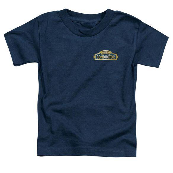 Polar Express Conductor Short Sleeve Toddler Tee Navy T-Shirt