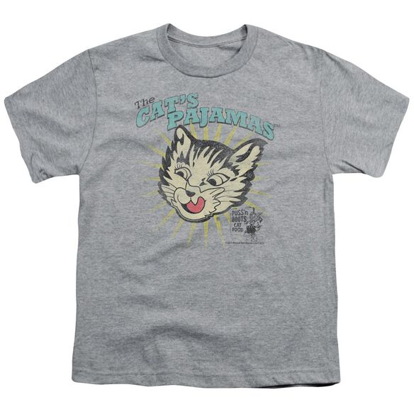 Puss N Boots Cats Pajamas Short Sleeve Youth Athletic T-Shirt