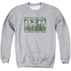 Arrow Not Guilty Adult Crewneck Sweatshirt Athletic