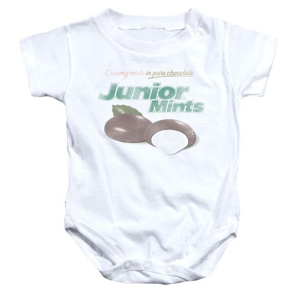 Tootsie Roll Junior Mints Logo Infant Snapsuit White
