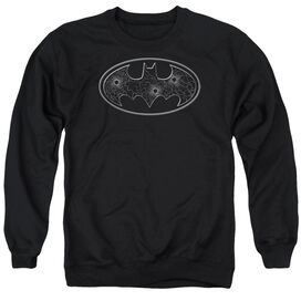 Batman Glass Hole Logo Adult Crewneck Sweatshirt