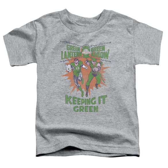 Green Lantern Keeping It Green Short Sleeve Toddler Tee Athletic Heather T-Shirt