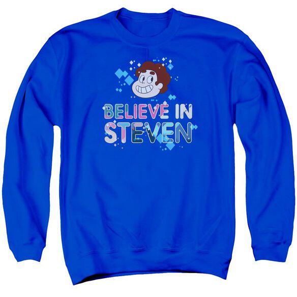 Steven Universe Believe Adult Crewneck Sweatshirt Royal