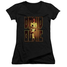 David Bowie Perched Junior V Neck T-Shirt