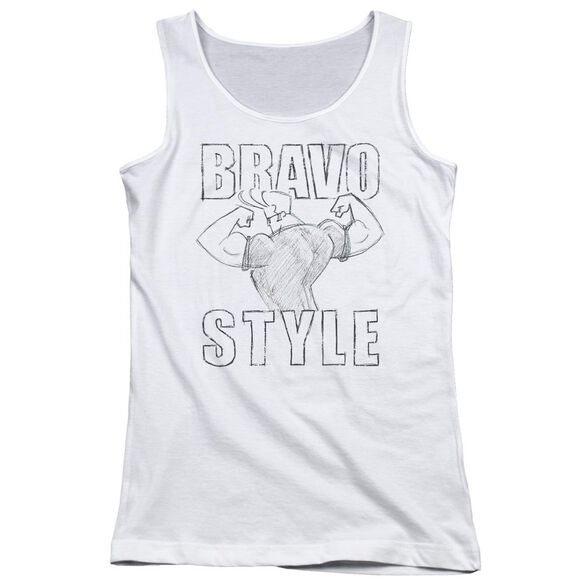 Johnny Bravo Bravo Style Juniors Tank Top